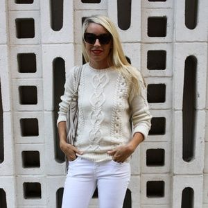 Gap cream cableknit sweater